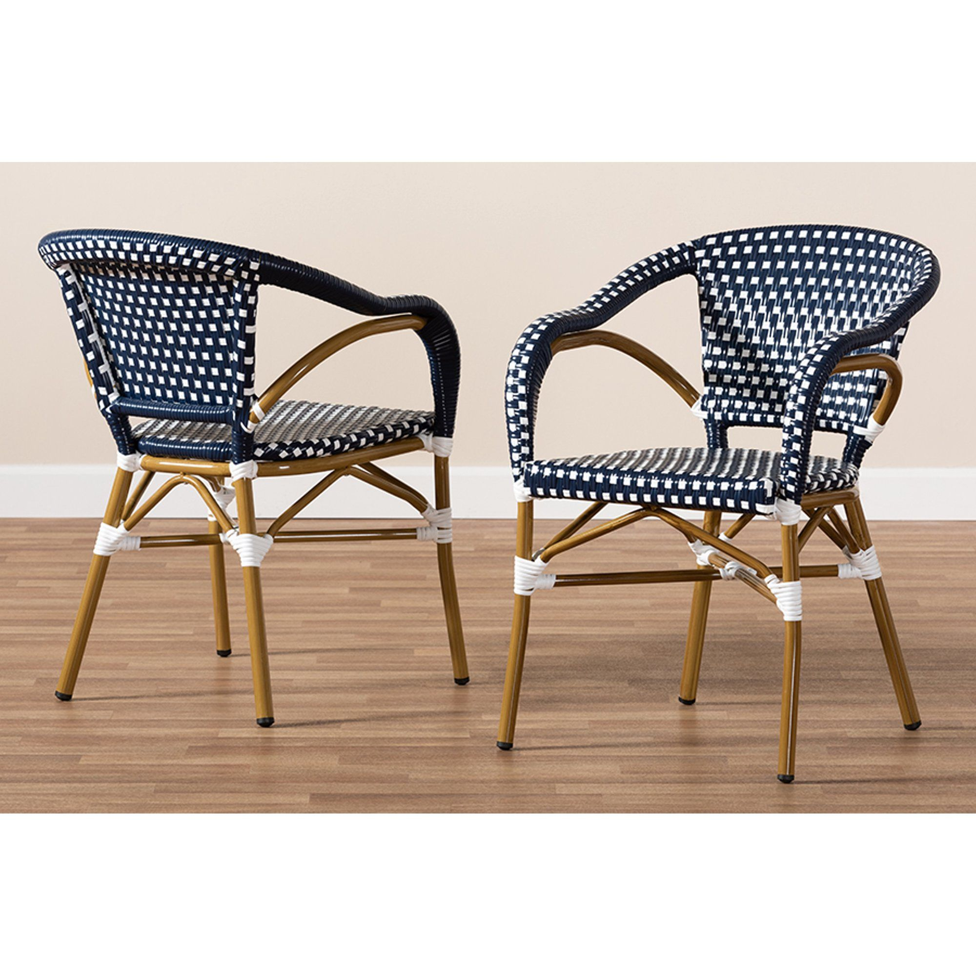 stackable bistro dining chair set