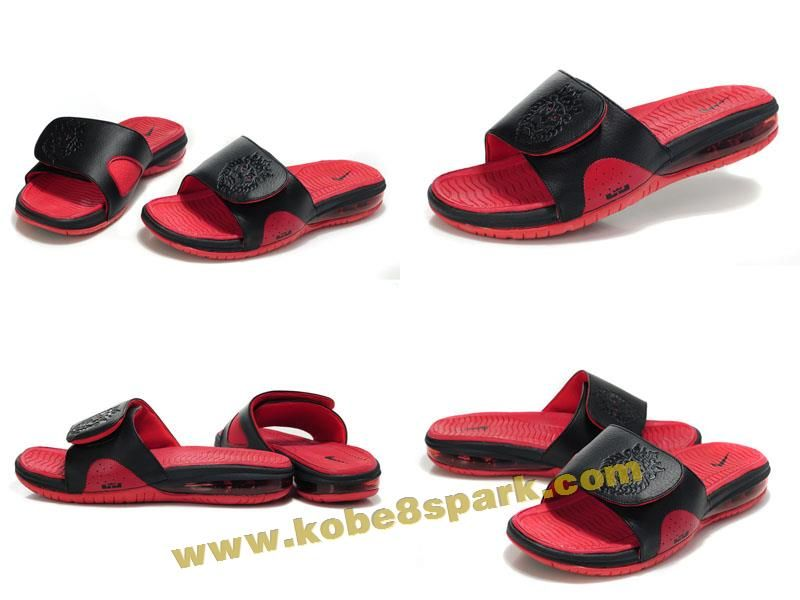 Nike Air Lebron Slide Black red 487332 010 Onlin | Kobe 8 ...