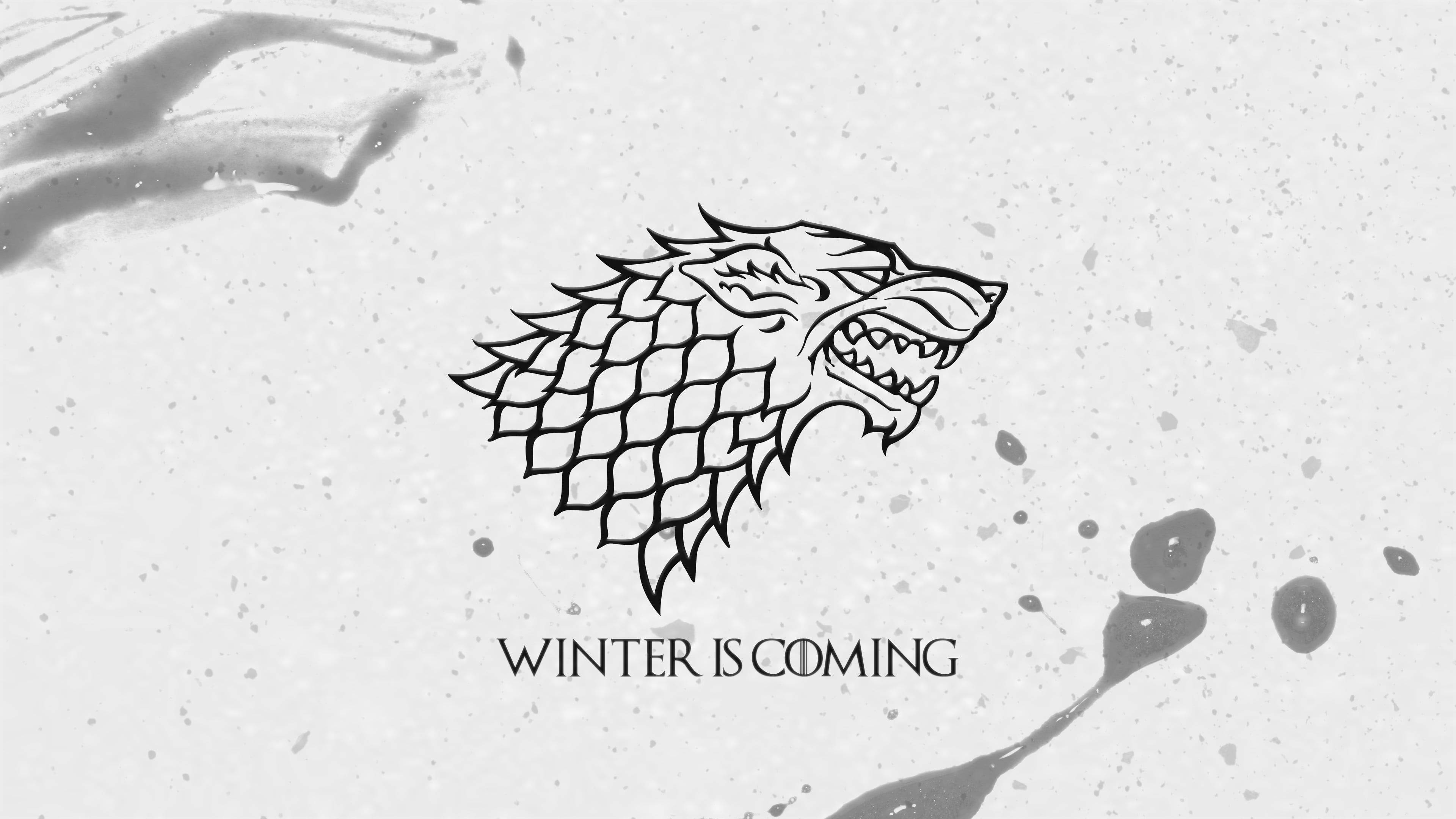 Winter Is Coming Logo Game Of Thrones A Song Of Ice And Fire Jon Snow House Stark Winte Winter Is Coming Wallpaper Winter Is Coming Meme Winter Is Coming Quote