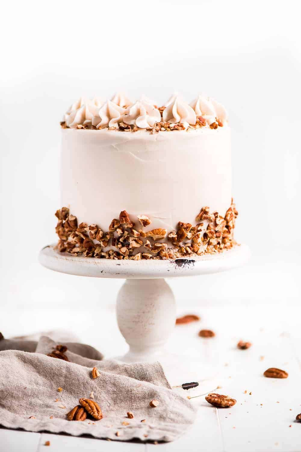 This classic southern Hummingbird Cake has a moist crumb full of bananas, cinnamon, and pineapple, all surrounded in a smooth cream cheese frosting. So easy! Hummingbird Cake