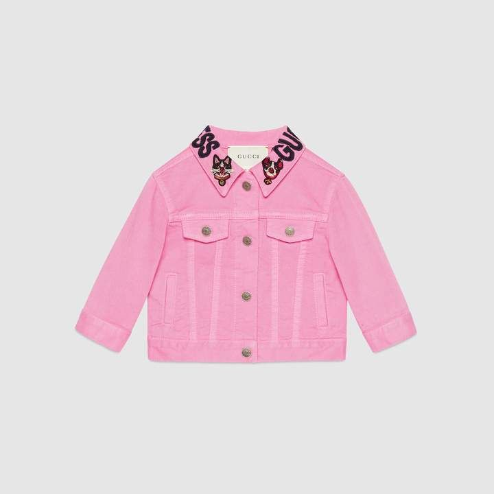 e83f4d2a0d Gucci Baby denim jacket with Bosco and Orso | Baby clothes-hairstyle ...