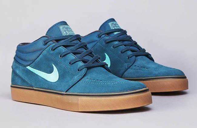 sneakers for cheap 000f6 96910 Nike SB Stefan Janoski Mid - Night Factor   Mint - Gum Tenis, Zapatillas,