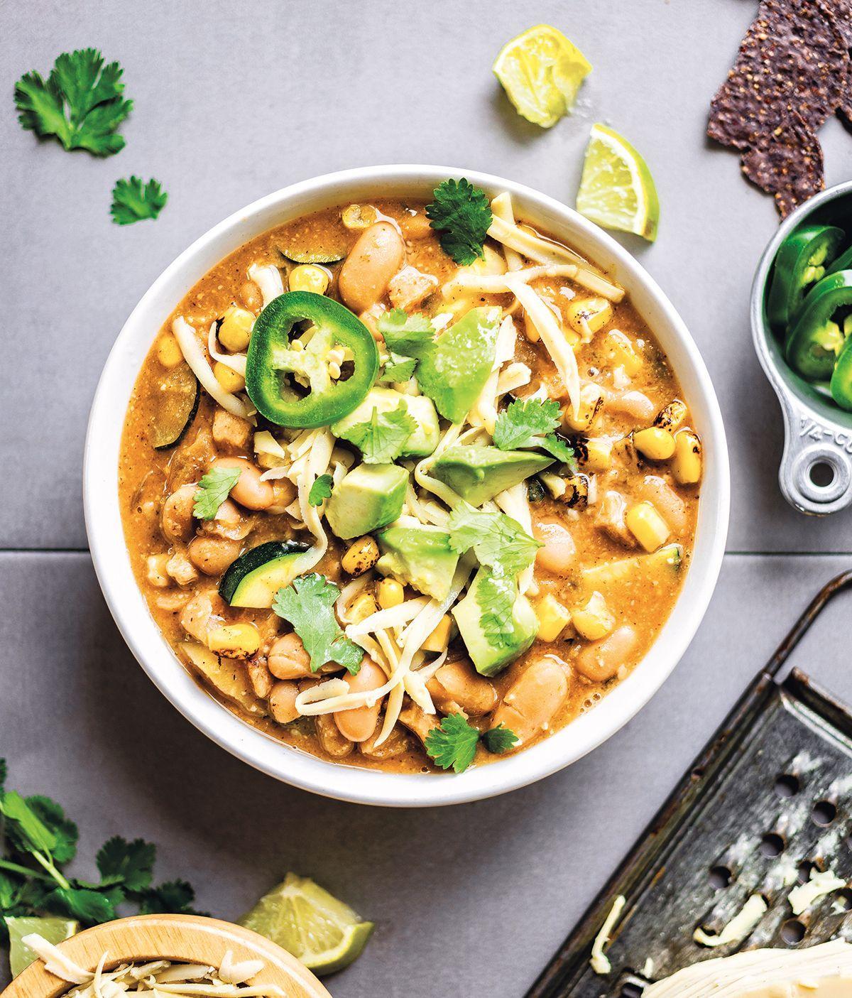 Totally Comforting White Bean Chicken Chili Recipe Hello Veggie Recipe In 2021 White Bean Chicken Chili Chicken Chili Recipe Chili Recipes