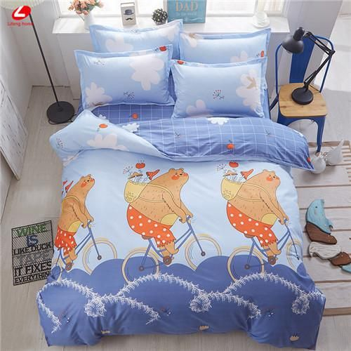 Home Textile AB Side Bedding Set Cartoon Pink Monkey Bedding Housse De  Couett Kid Bed Linen Set Blue Bedclothes Cute Funny Sheet | Products |  Pinterest ...