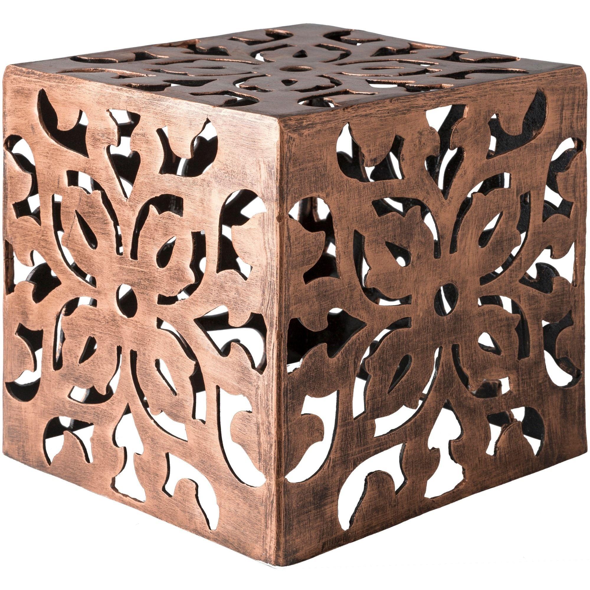 Emideo Copper (Brown) Metal Drum Accent Table