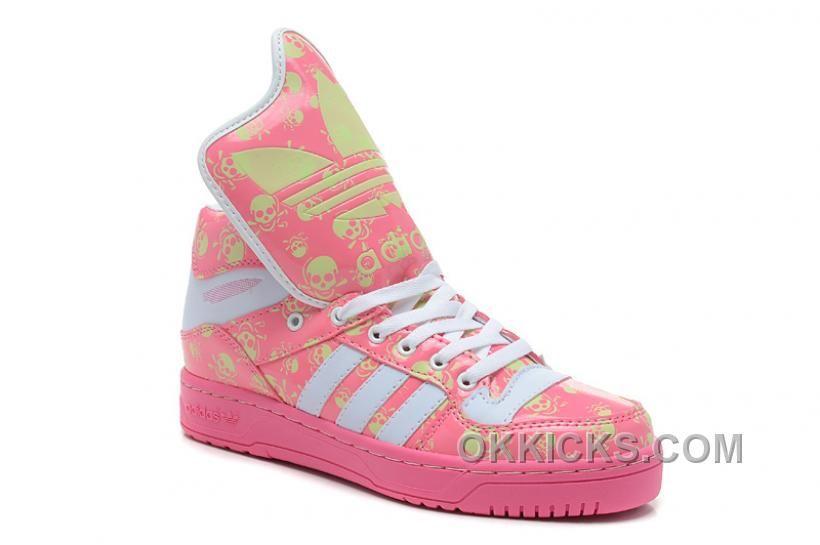 buy popular 89369 6294e http   www.okkicks.com soldes-la-version-chaude-femme-adidas-originals -big-tongue-brillent-dans-le-noir-skull-rose-blanche-boutique-3gpbm.html  SOLDES LA ...