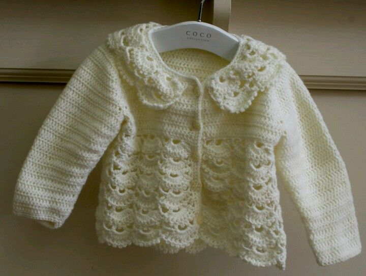 Instagram. PICTURE ONLY for inspiration. Crochet baby cardi