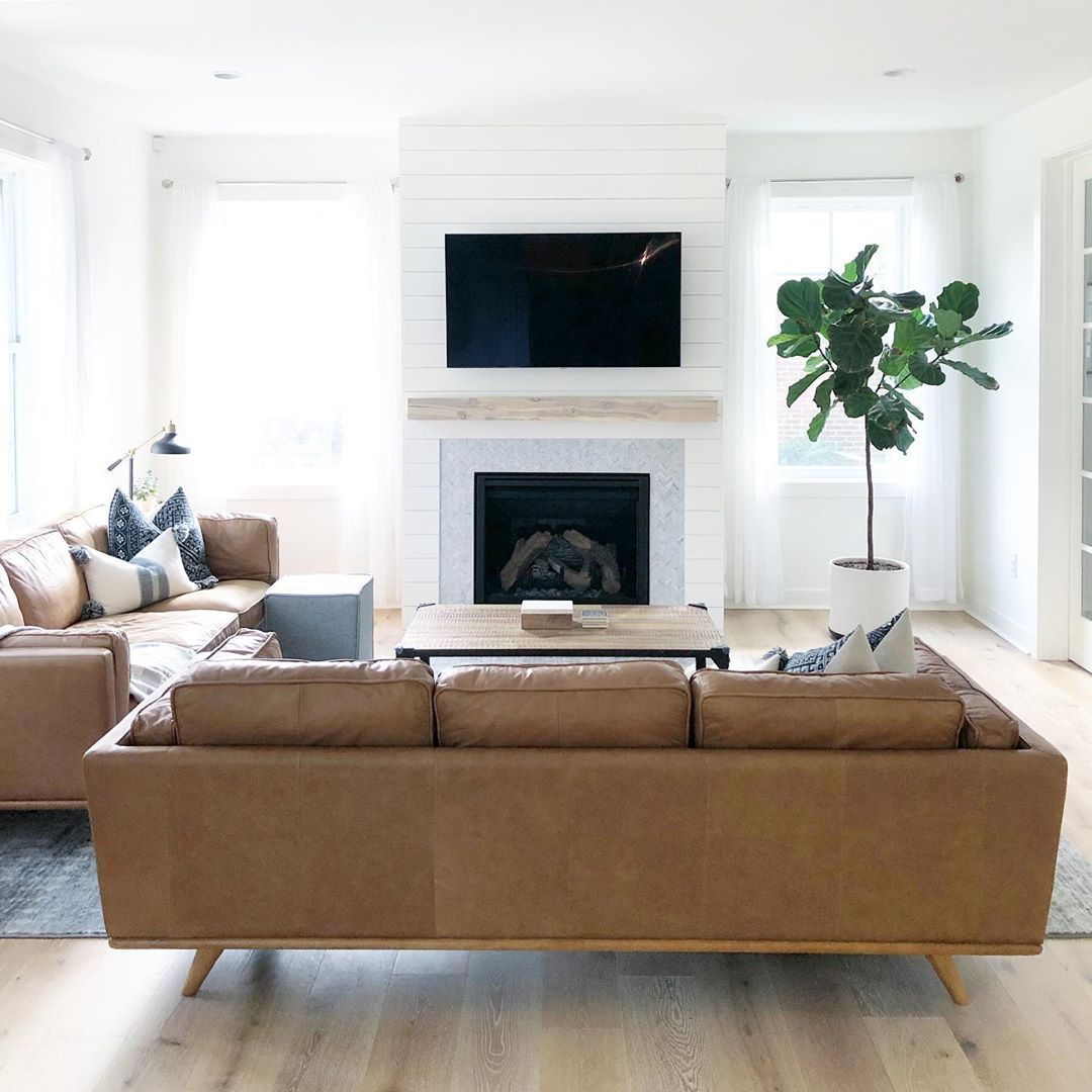 Thehouseonhillsidelane On Instagram I Get A Lot Of Questions About Our Article Timber Leather So Rectangle Living Room Couches Living Room Livingroom Layout #new #lots #furniture #living #room #sets