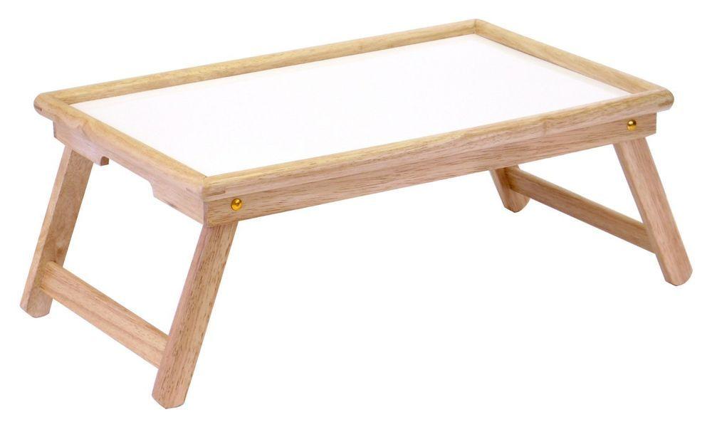 Wood Bed Tray Serving Breakfast Tea Sofa Table Food Desk Laptop