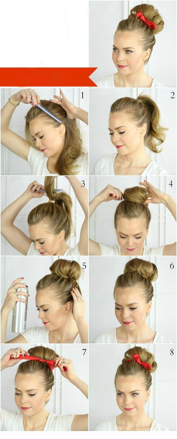 Match the Ribbon With The Lipstick | hairstyle | Pinterest