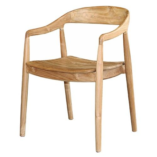 Salvaged Teak With Varied Grain And Color Is Used To Construct A Mid Century Inspired Dining Chair