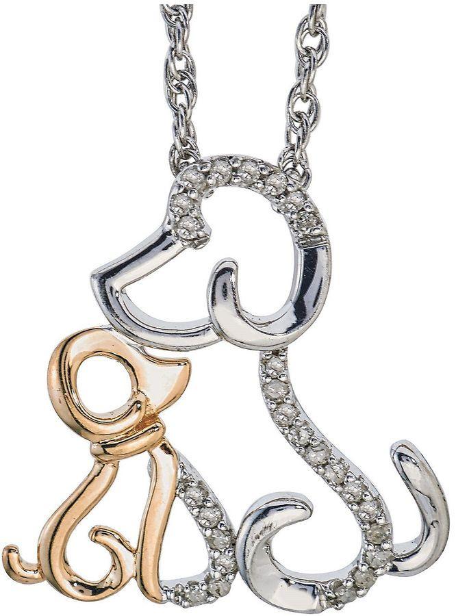 Fine Jewelry Womens Diamond Accent White Diamond 14K Gold Pendant Necklace fTF4QW