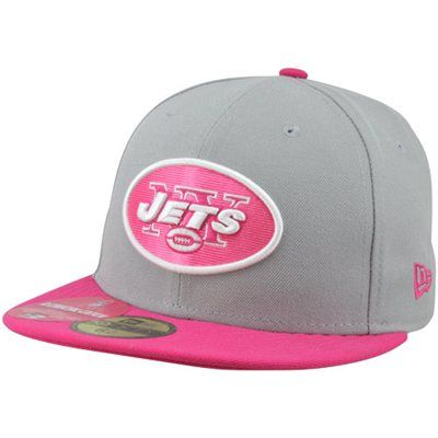 e4fefafe48d55d New Era New York Jets Breast Cancer Awareness On-Field Player 59FIFTY  Fitted Hat - Gray/Pink #fanatics