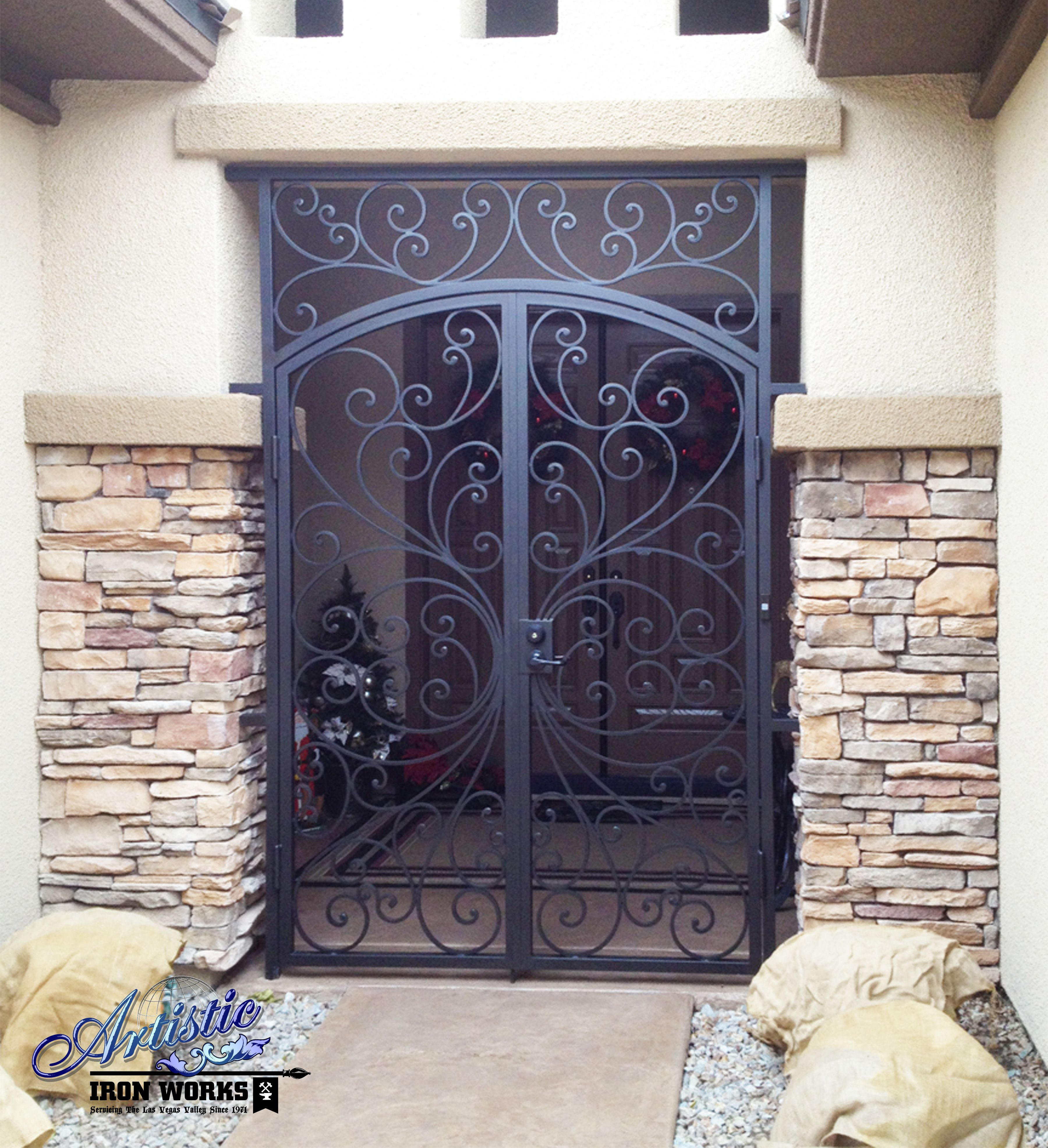 Ricci Decorative Wrought Iron Entryway Ew0328 With Images