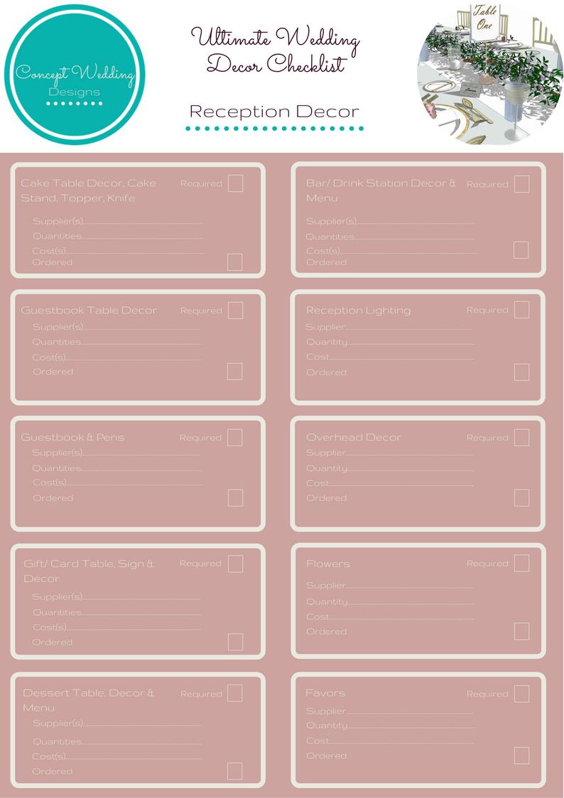 Ultimate wedding reception decor checklist from www ultimate wedding reception decor checklist from conceptweddingdesigns conceptweddingdesigns weddinginspiration junglespirit Gallery
