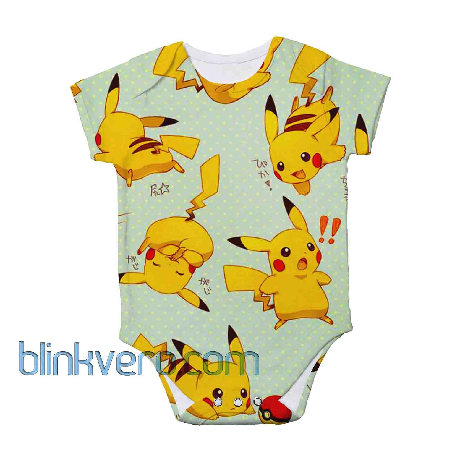 Pikachu kawaii full print awesome baby onesie bodysuite