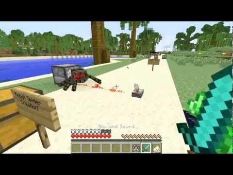 Popularmmos - Minecraft ] JET PACK SPIDER ALIEN MOD ( FLYING
