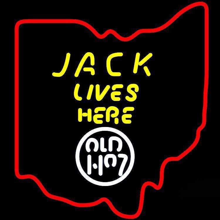 Jack Lives Here Ohio Neon Sign Glass Tube Neon Light