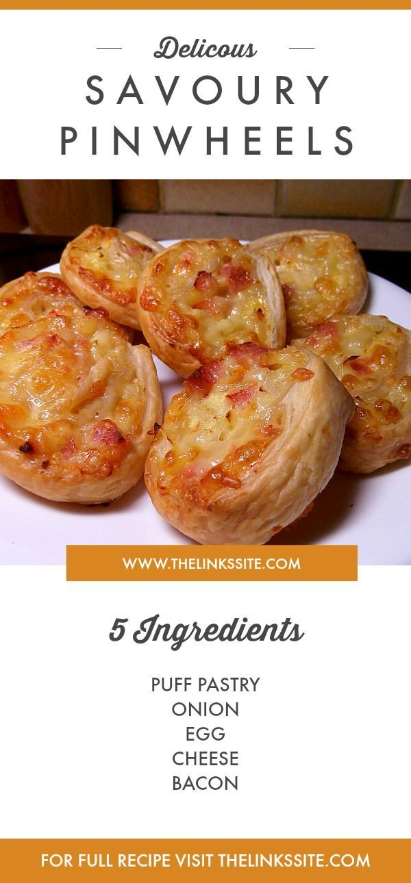Photo of Delicious Savoury Pin Wheels   The Links Site