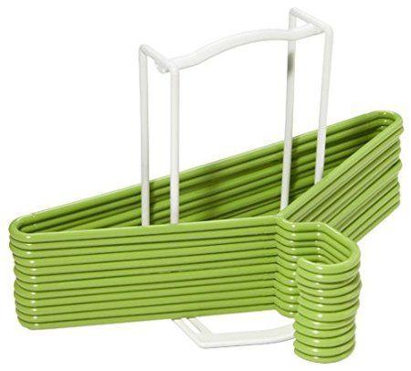 White Plastic Standing Hanger Holder / Hanger Stacker / Hanger Organizer - Basic Version
