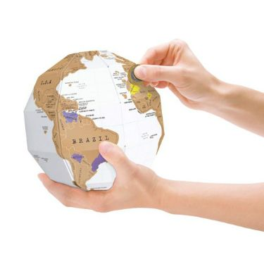 This really is a map with a difference Scratch Map Globe The