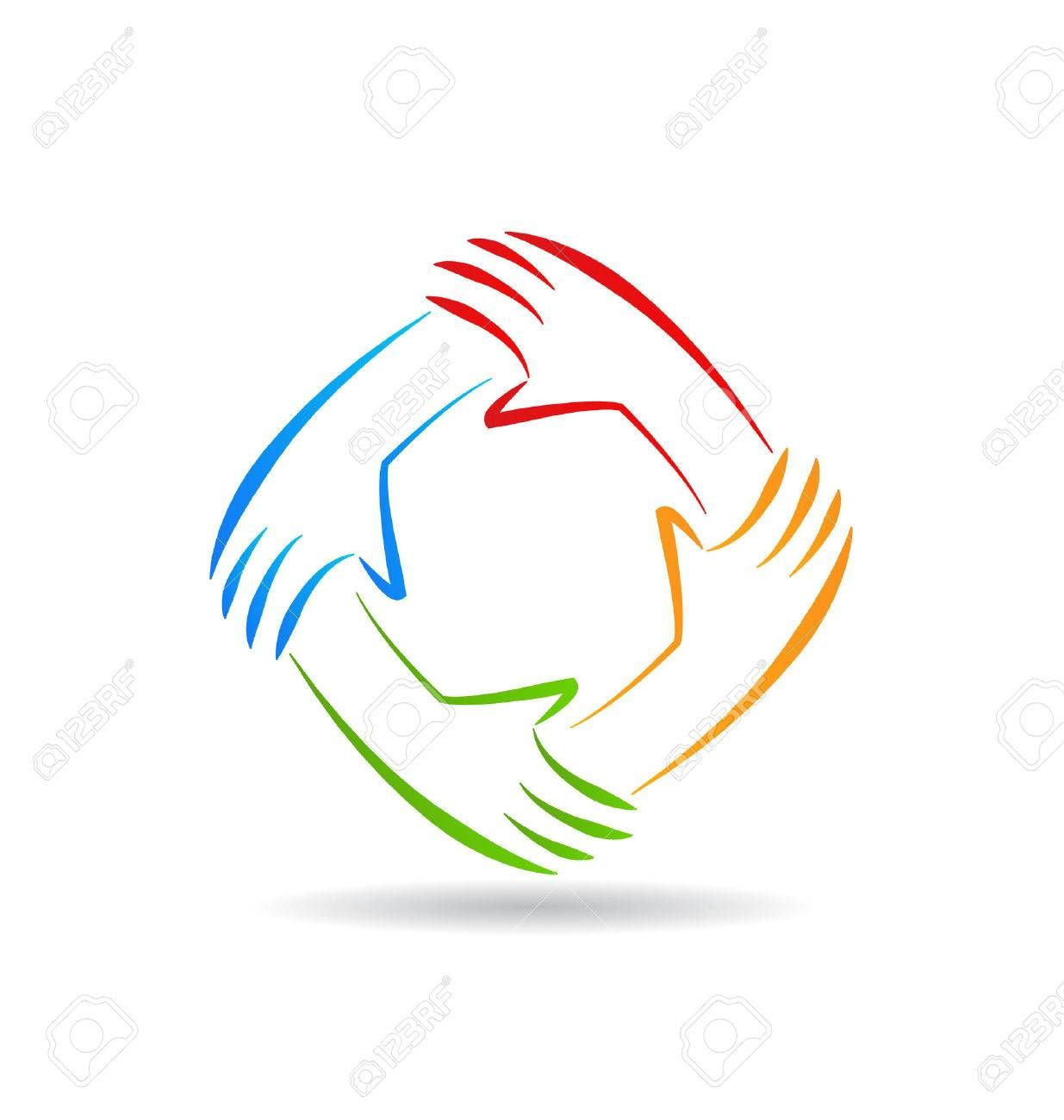 Teamwork Unity Hands Identity Card Vector Icon Royalty Free Cliparts Vectors And Stock Illustration Image 36630489 Unity Logo Hand Logo Teamwork Logo