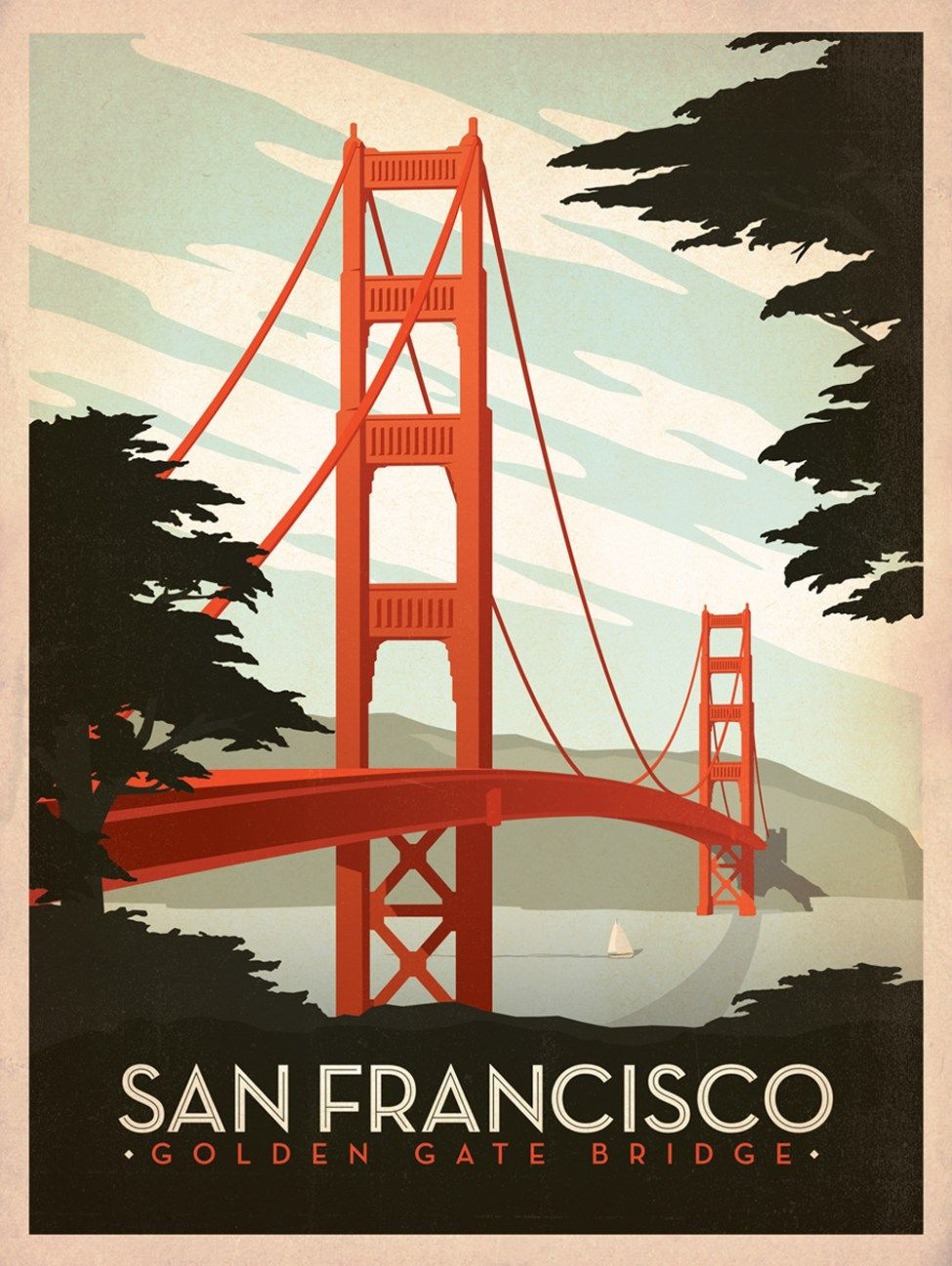 50 Vintage Travel Posters To Feed Your Wanderlust Live Wanderfully Golden Gate Bridge Wall Art Vintage Travel Posters Vintage Posters
