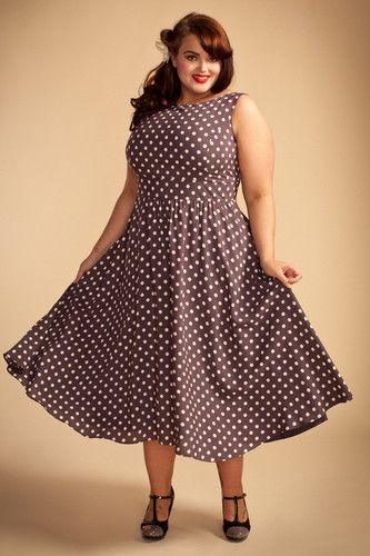 LADY VINTAGE PLUS SIZE 50s VTG DRESS in 12 DIFFERENT PRINTS RETRO ...