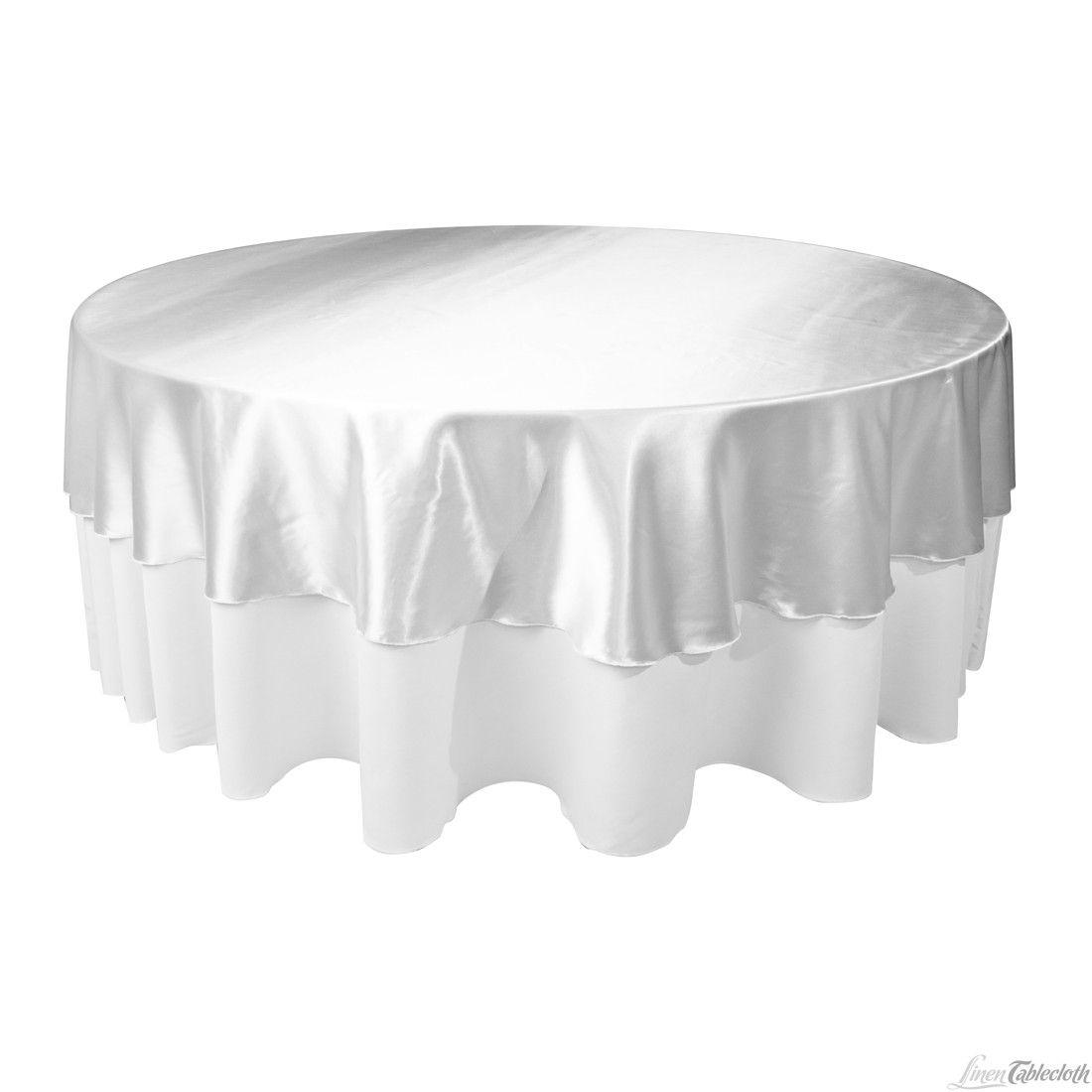 108 In Round Satin Tablecloth Overlay Silver For Only 12 99 At Linentablecloth Com Perfect For Any Wedding And E Table Cloth Round Tablecloth Elegant Table