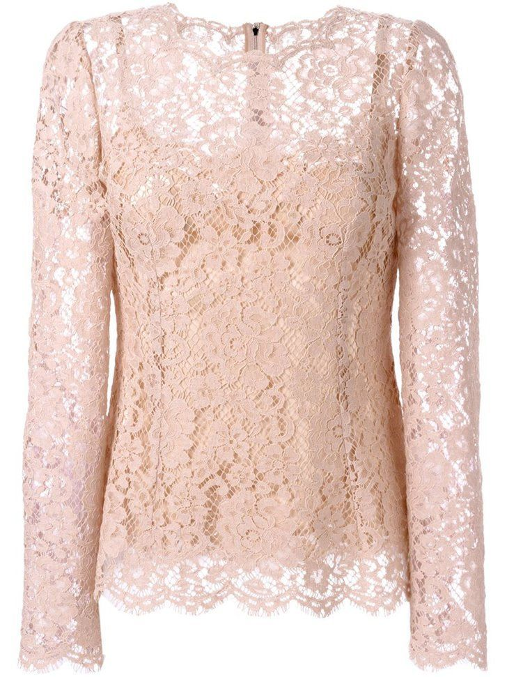 35db901a8f34 Pin for Later: Get Pretty in Pink With Pantone's Colour of the Year Dolce &  Gabbana Floral Lace Blouse Dolce & Gabbana Floral Lace Blouse (£1,150)