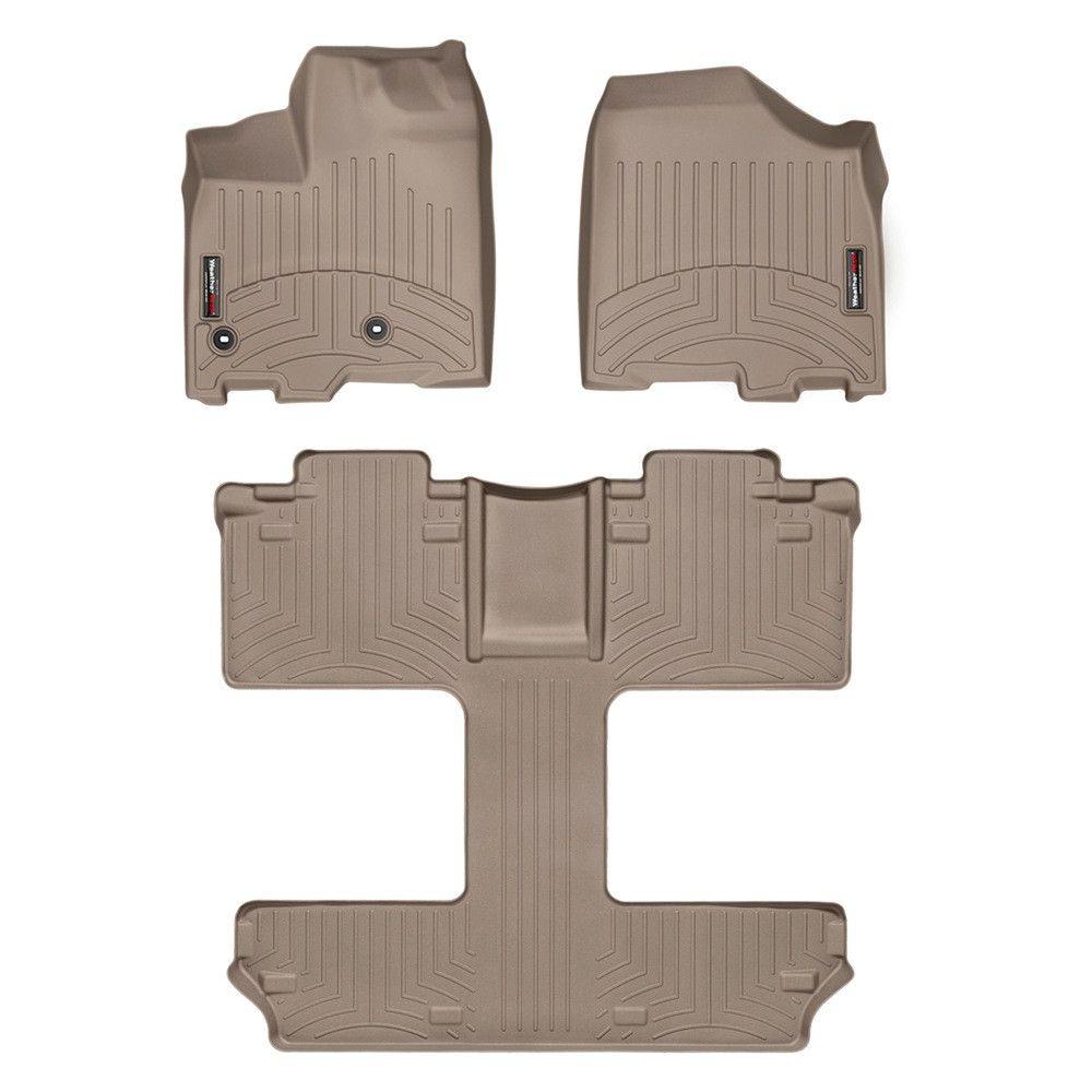 Weathertech series tan front and rear floorliner
