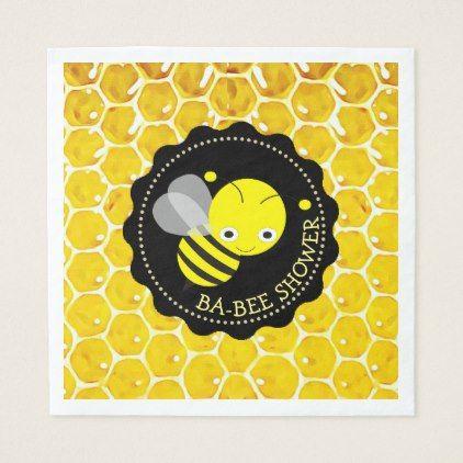 Honey Bee Bumblebee Themed Babee Shower Napkins