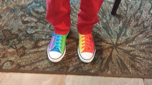Awesome shoes I saw at PAX East 2014. The guy had to custom order two pairs to get them.