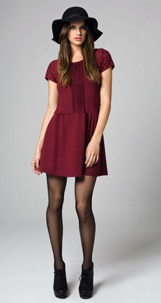 589dfbae73 vestido corto bordo mangas cortas mab invierno 2014