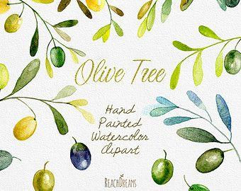 Olive Kranz Aquarell Download Hand Malerei Olive Von ReachDreams | Ideen |  Pinterest | Aquarell, Garten Deko Und Verzierung