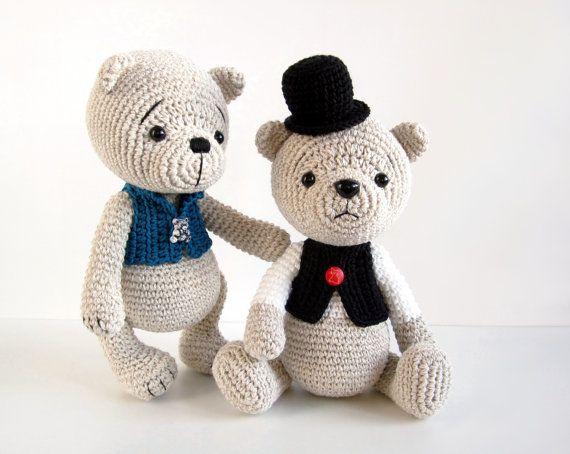 Amigurumi Crochet Patterns Teddy Bears : Pattern teddy bear in a top hat and vest classic teddy bear