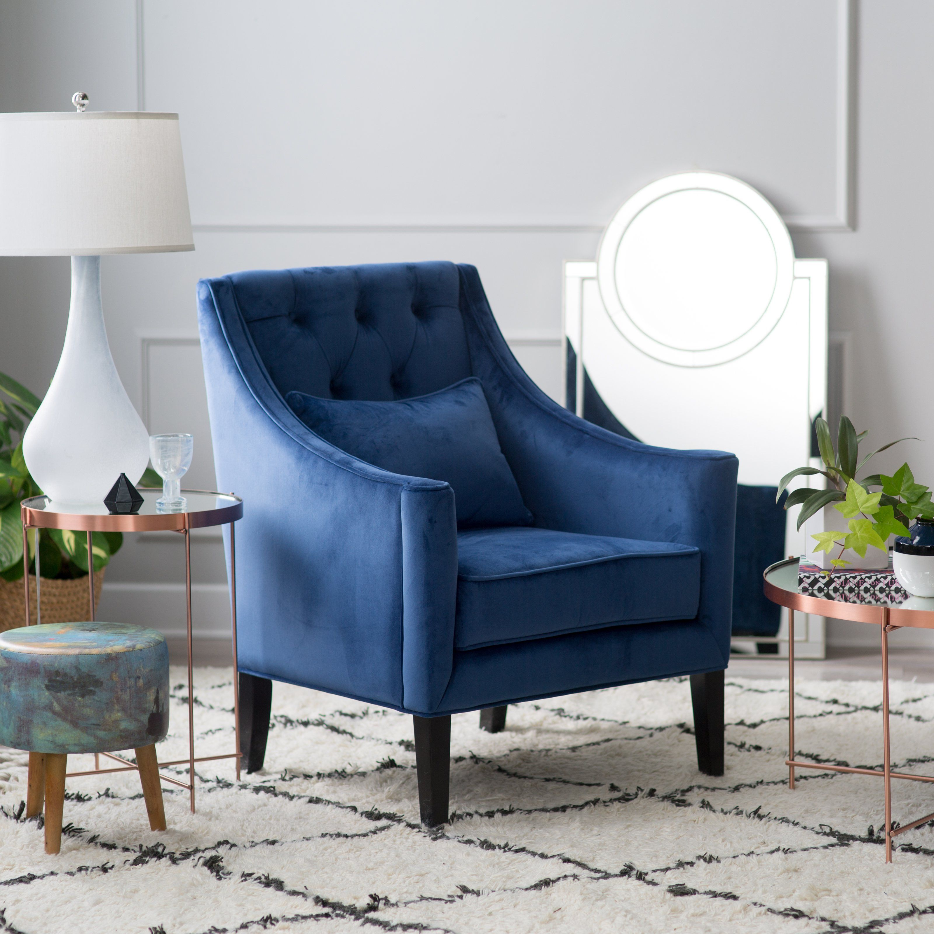 Belham Living Avery Arm Chair With Back Pillow Accent Chairs For