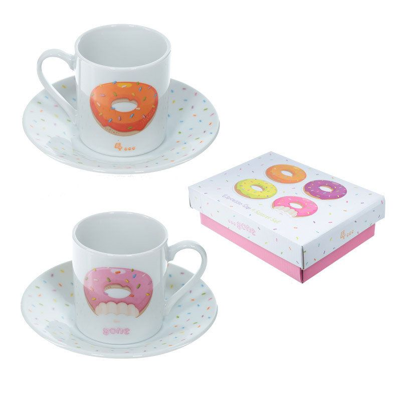 Puckator I Love My Cat Porcelain Small Espresso Cup /& Saucer Set of 2 Gift Box