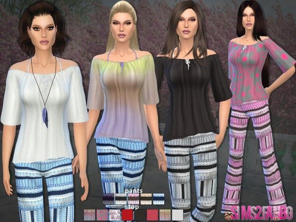 The Sims Resource: 41 – Bohemian set by Sims2fanbg • Sims 4