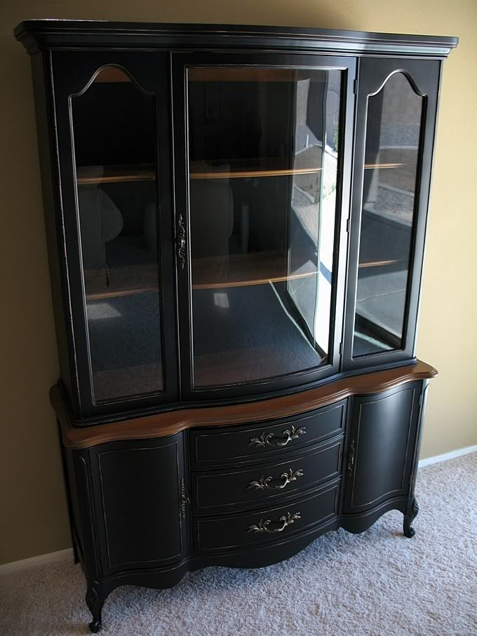 dalloway place distressed provincial black hutch