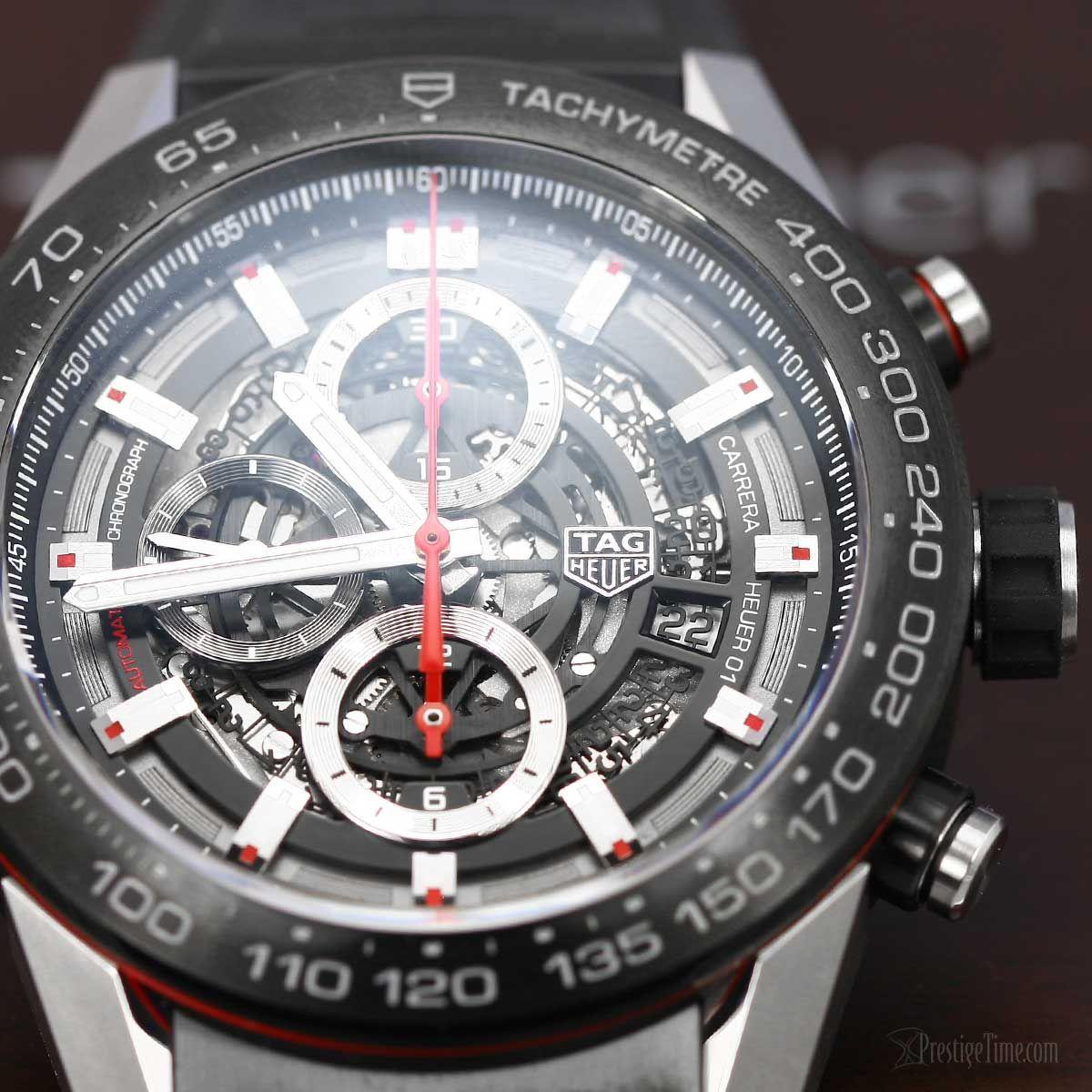 1792c48b9fb TAG Heuer Carrera Calibre Heuer 01 Skeleton Chronograph 45mm Men s Watch.   TAGHeuer  Carrera  Calibre  Heuer01