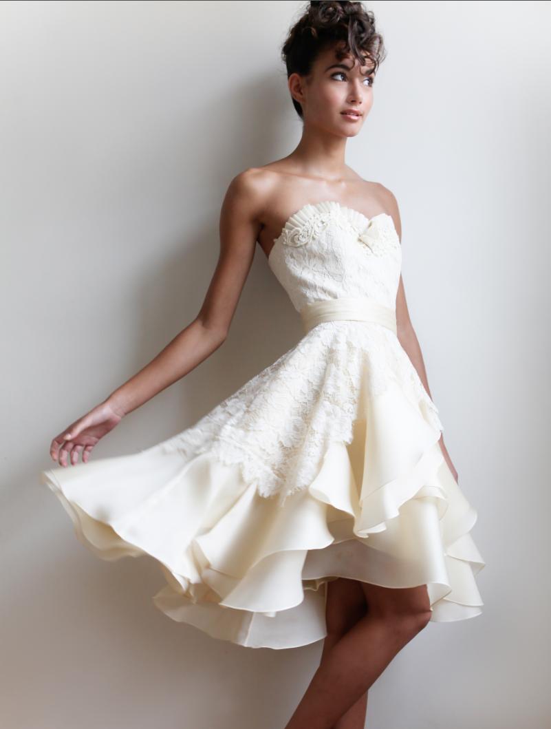 Fun Short Reception Wedding Dresses
