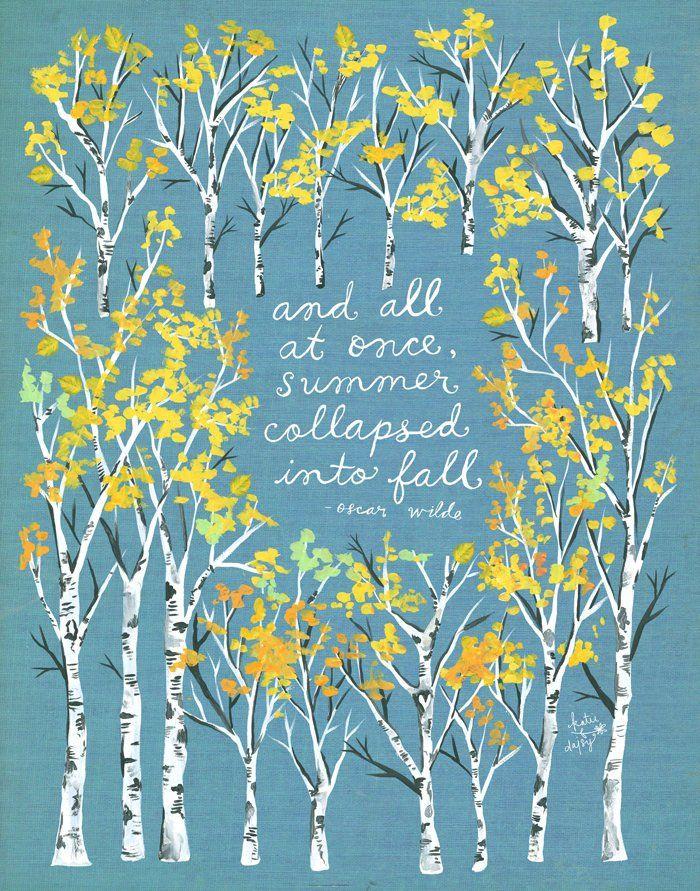 Sommer zusammengebrochen Kunstdruck | Fallen Herbst | Aquarell Zitat | Inspirierende Schriftzug | 8 x 10 | 11 x 14 #happyhalloweenschriftzug