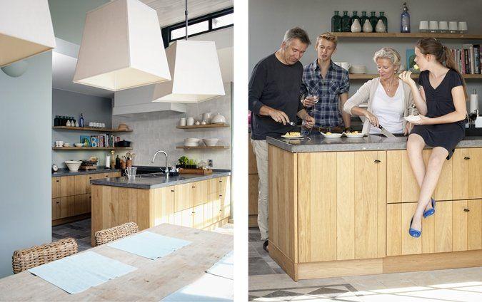 bleu céladon avec bois blond et pierre bleue belge canon peinture - logiciel de construction maison 3d gratuit