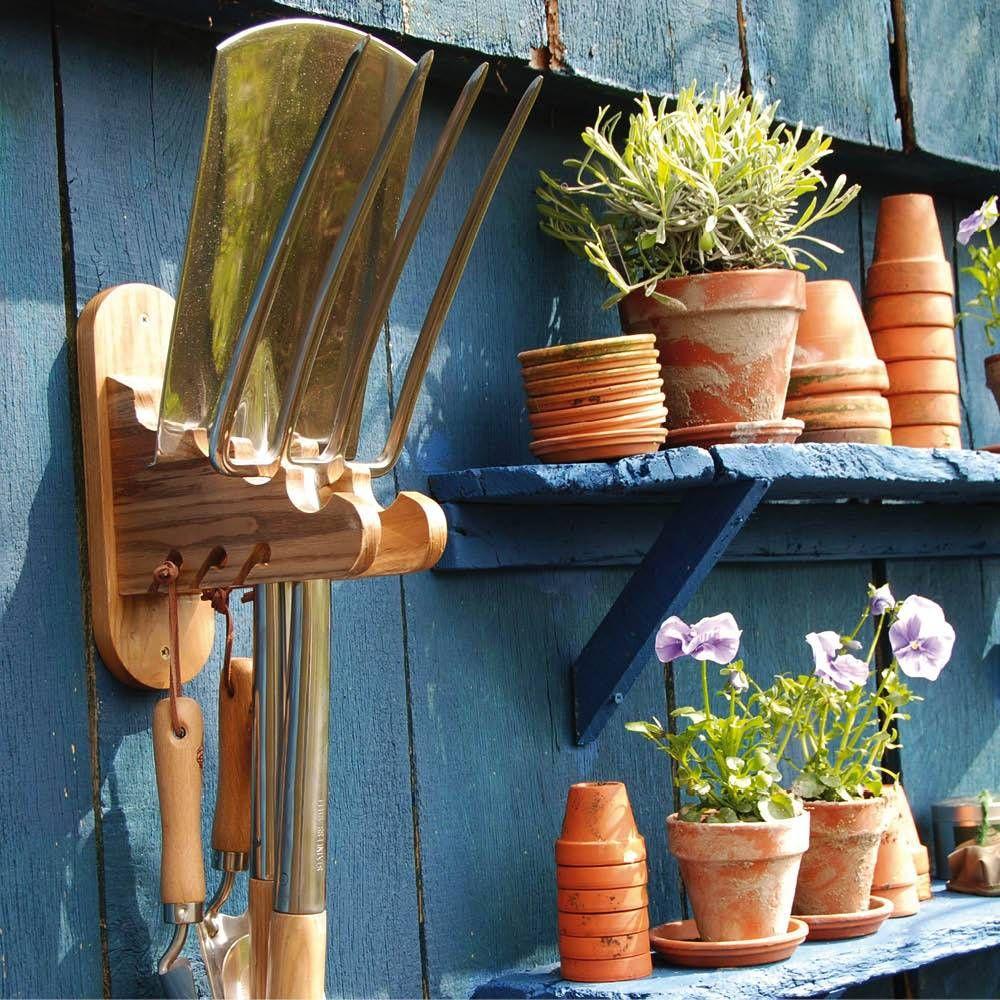 gartengeräte-hänger aus holz | garten | pinterest | gartengeräte, Gartengerate ideen