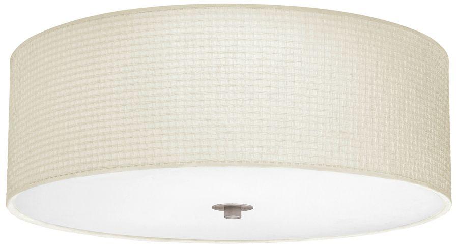 kalunga flush fitting linen drum ceiling light master bedroom