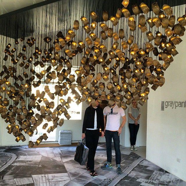 @graypantsstudio 's Starling Murmuration light at Zona Tortona #euroluce #milanodesignweek #Padgram
