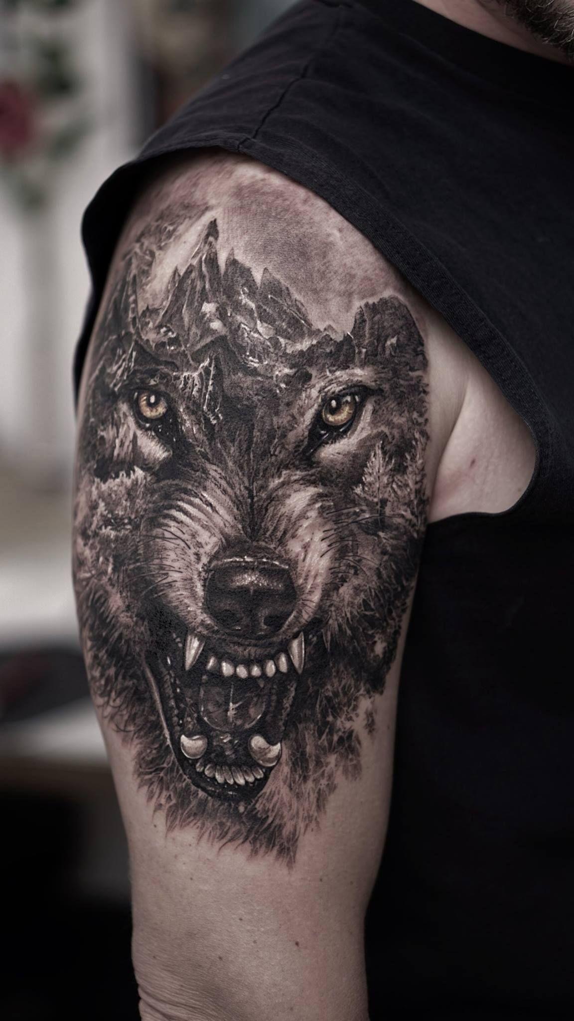 Solo Para Aser Los Tato Mas Perrones Tatuajes De Lobos Tatuajes