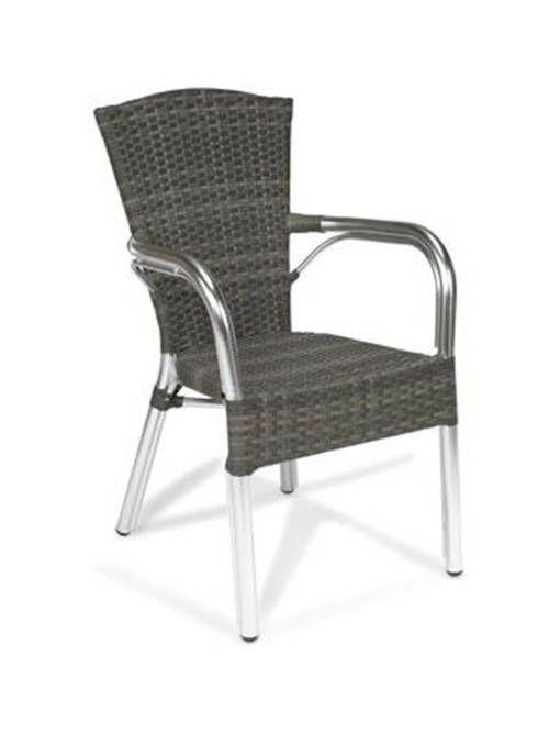 sillón Agora estructura de aluminio tejido pvc exterior terraza bar ...