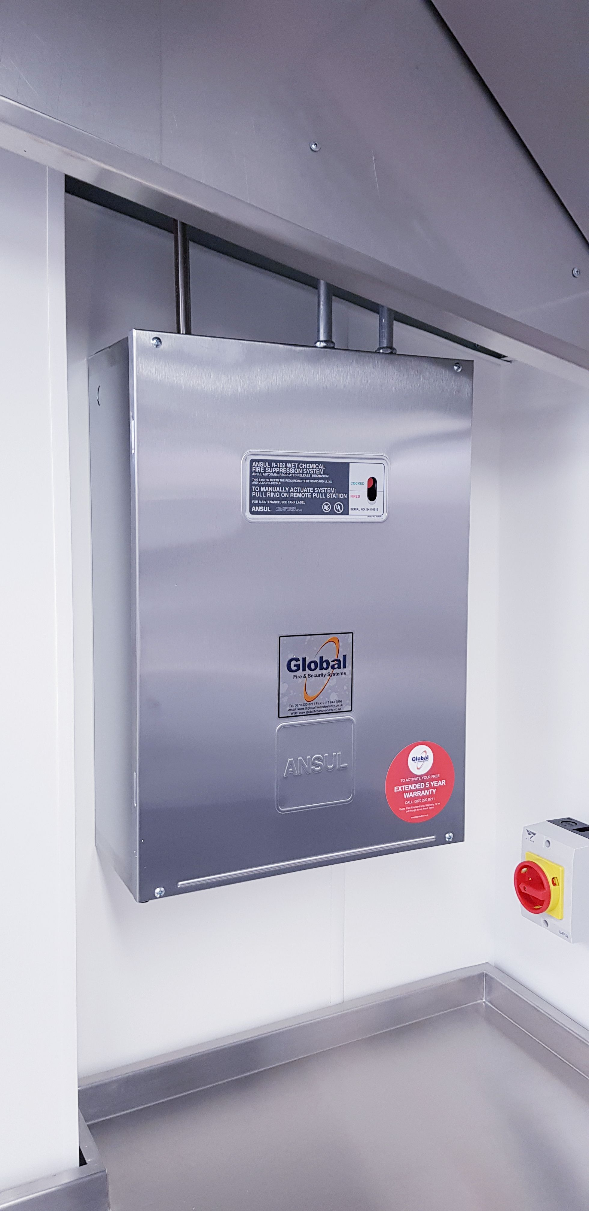 hight resolution of fire suppression systems for commercial kitchens
